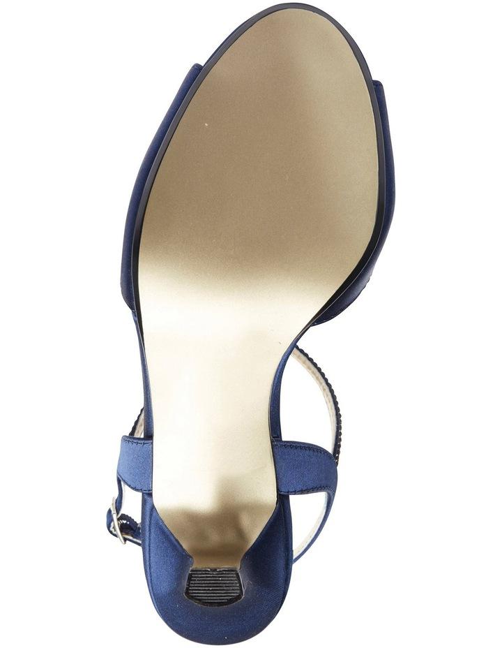 Delicia Bright Navy Satin Sandal image 6