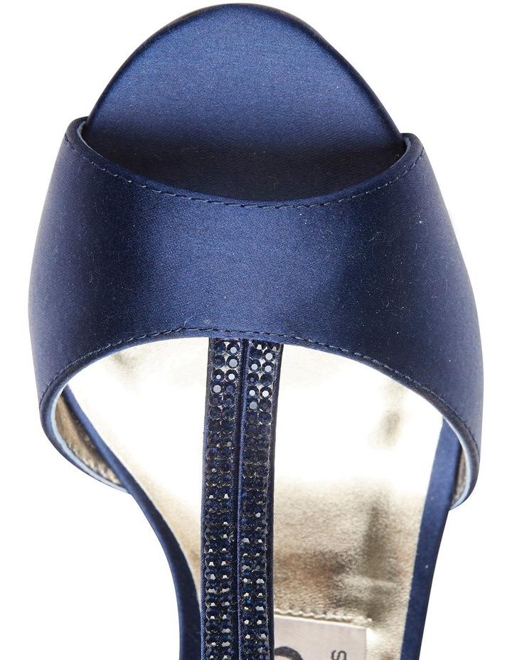 Delicia Bright Navy Satin Sandal image 7