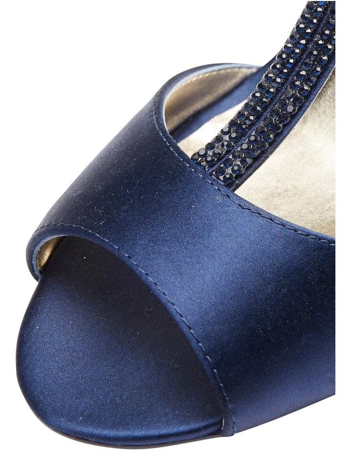 Delicia Bright Navy Satin Sandal image 8