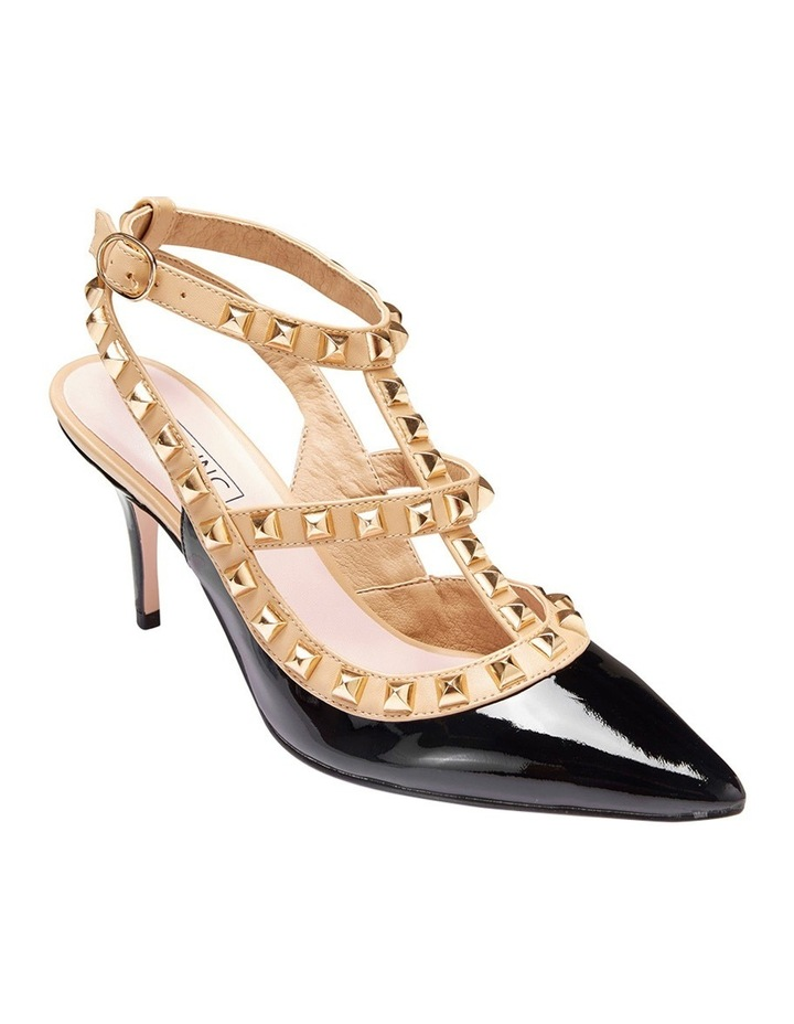 Pink Inc Sphinx Black Patent/Nude Pump image 2