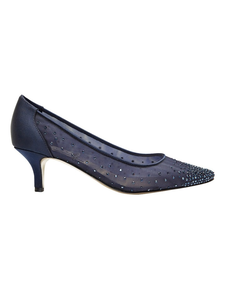 A.P.Too Spritz Bright Navy Satin Pump image 1