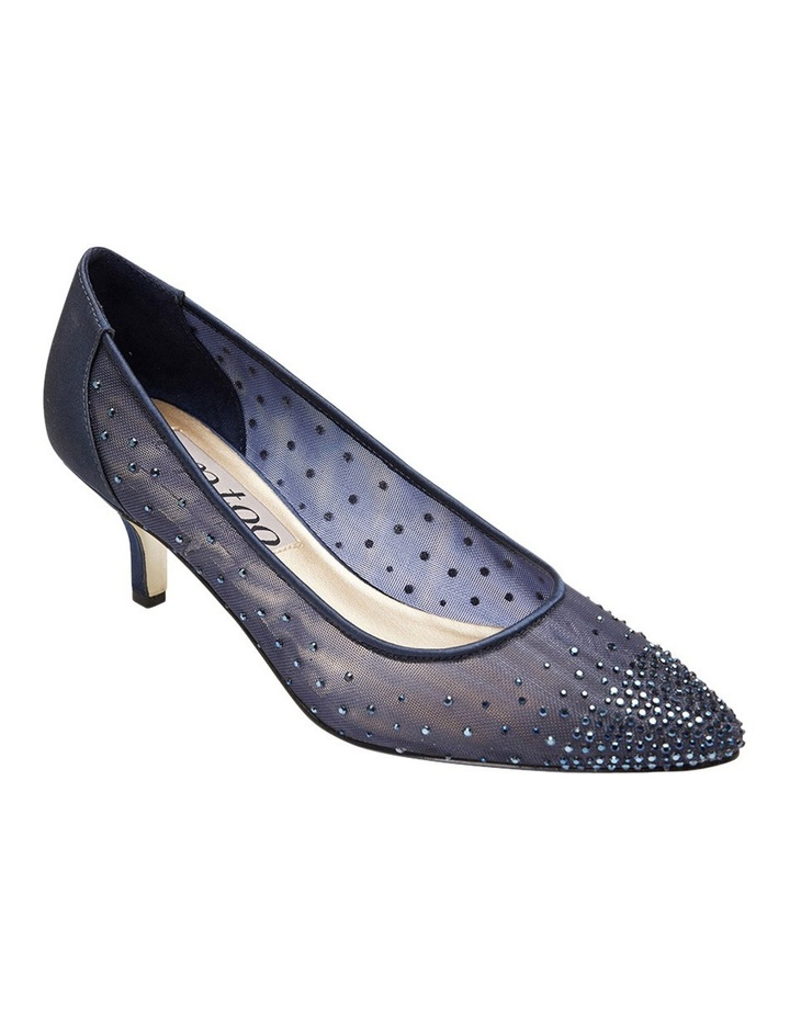A.P.Too Spritz Bright Navy Satin Pump image 2