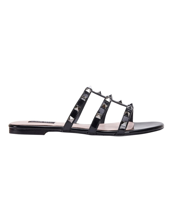 Spain black patent sandal image 1