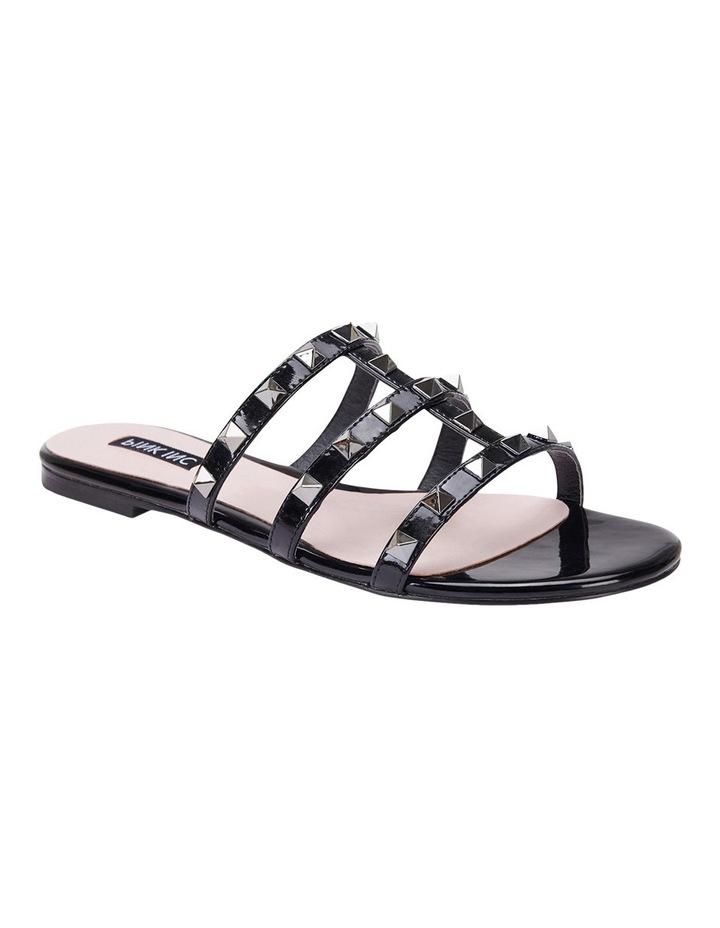 Spain black patent sandal image 2