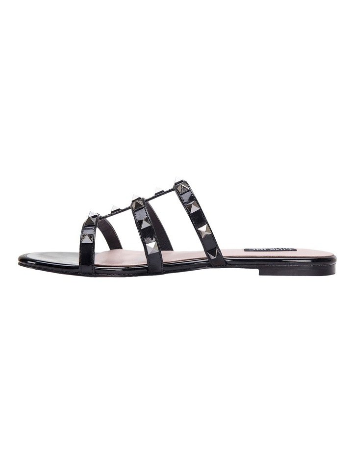 Spain black patent sandal image 3