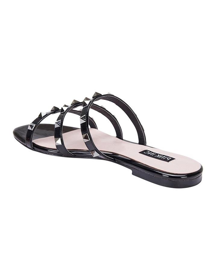 Spain black patent sandal image 4