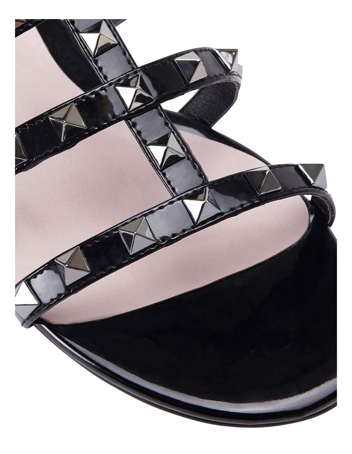 Spain black patent sandal image 6