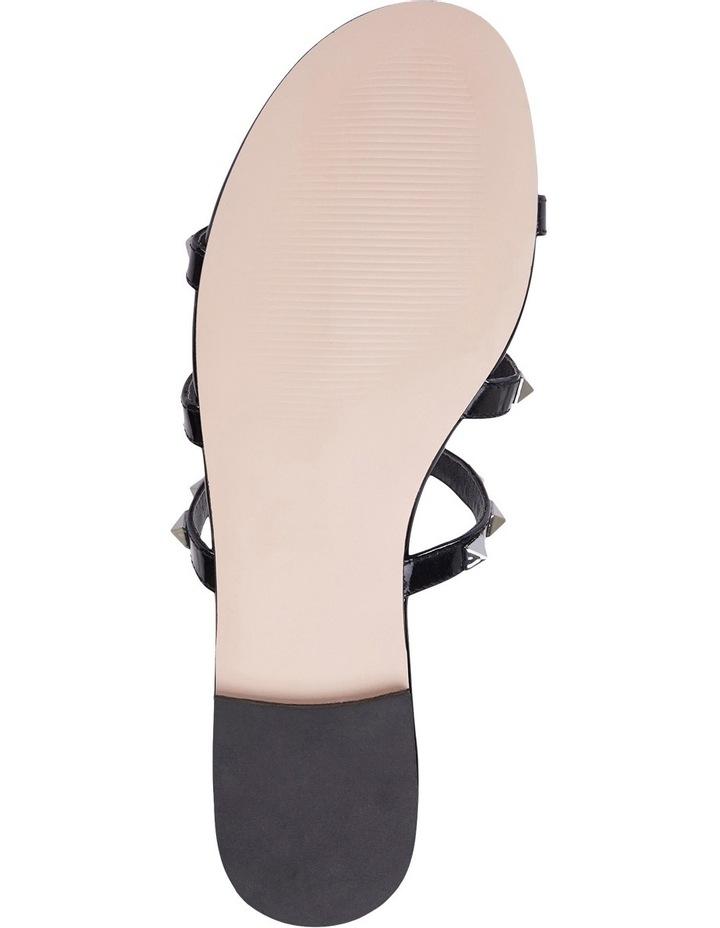 Spain black patent sandal image 7