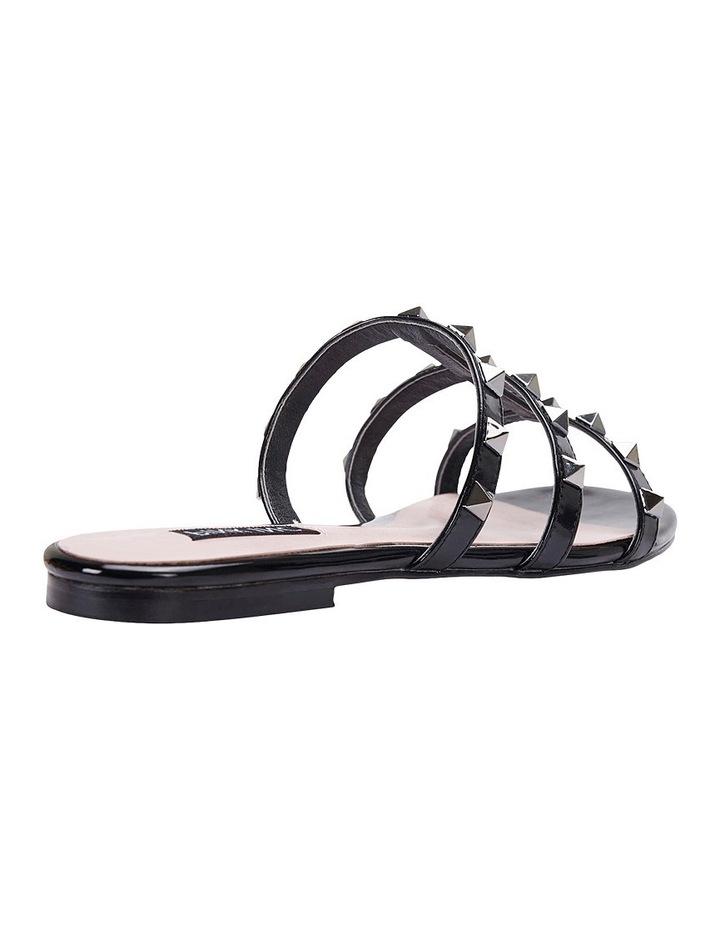 Spain black patent sandal image 8