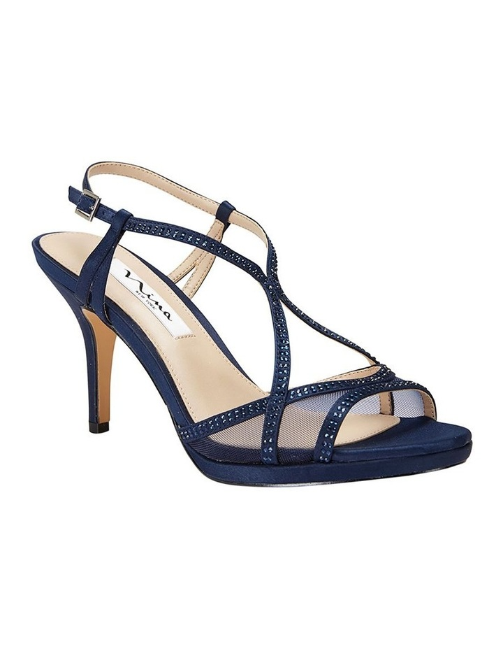 Blossom Navy Satin Pump image 2
