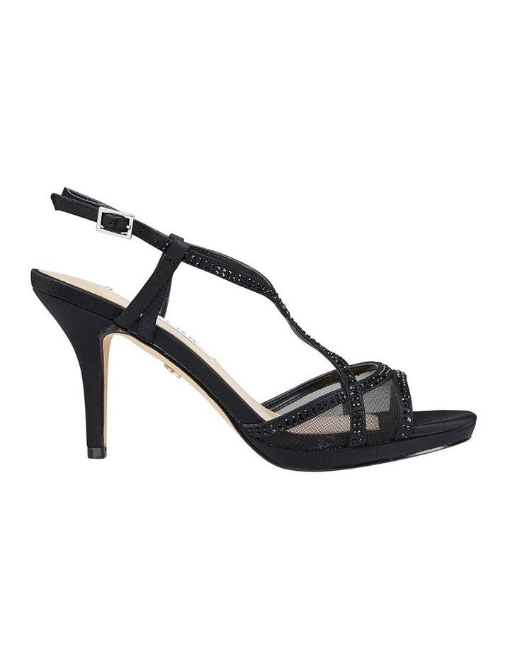 Blossom Black Satin Sandal image 1
