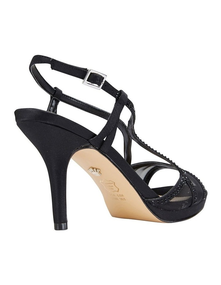 Blossom Black Satin Sandal image 4