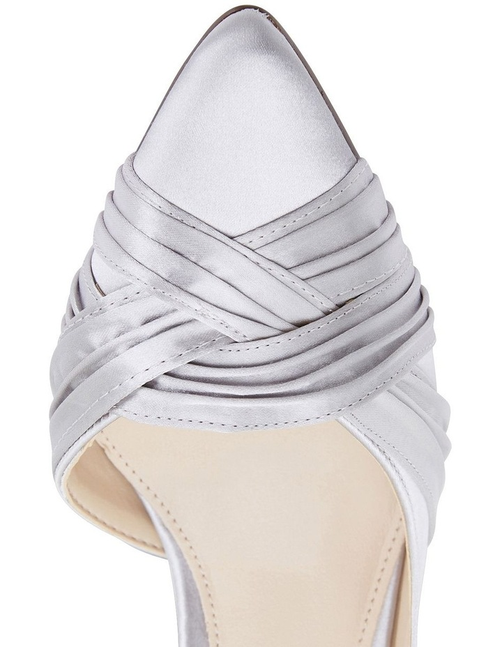 Blakely New Silver Satin Pump image 7