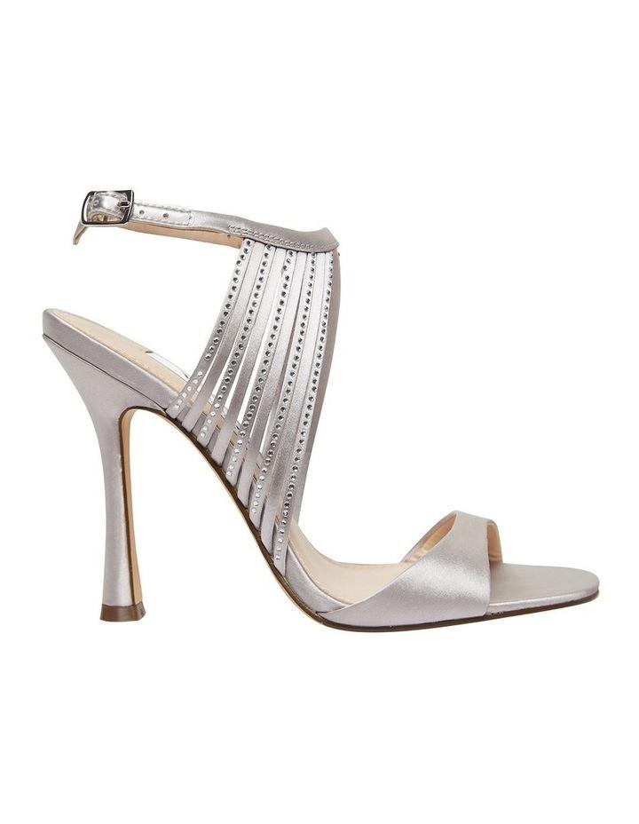 Damaris New Silver Crystal Satin Sandal image 1