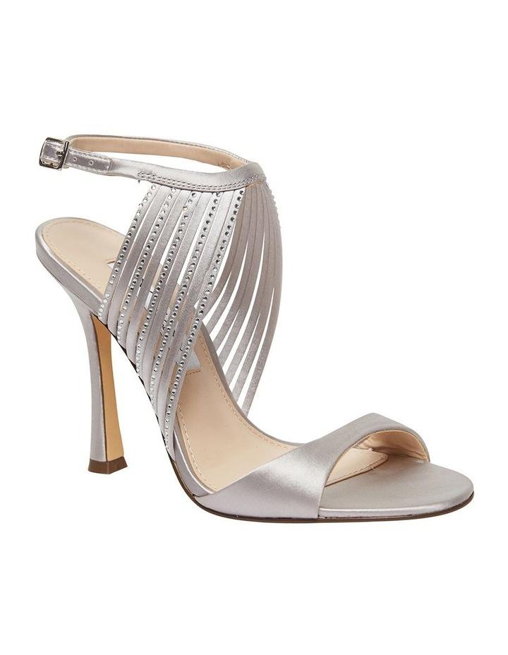 Damaris New Silver Crystal Satin Sandal image 2