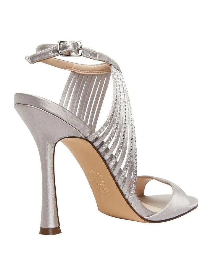 Damaris New Silver Crystal Satin Sandal image 3