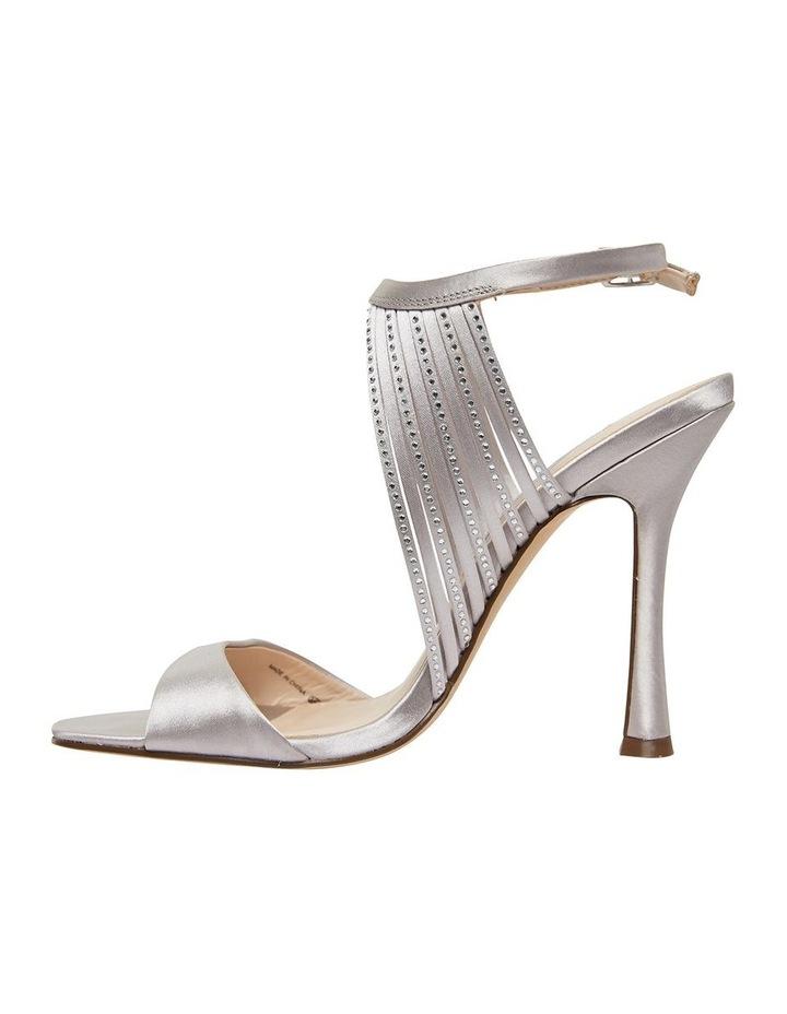 Damaris New Silver Crystal Satin Sandal image 4