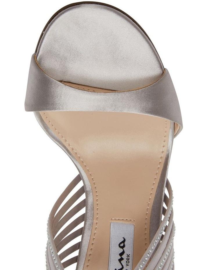 Damaris New Silver Crystal Satin Sandal image 5