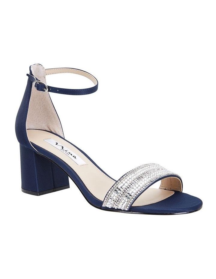 Elenora New Navy  Luster Satin Sandal image 2