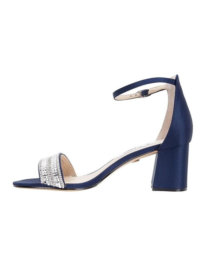 Elenora New Navy  Luster Satin Sandal image 3