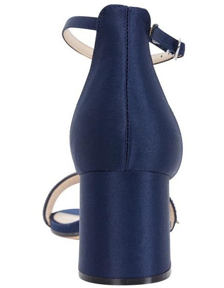 Elenora New Navy  Luster Satin Sandal image 4