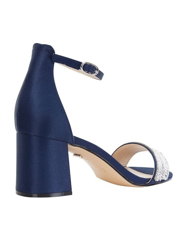Elenora New Navy  Luster Satin Sandal image 5