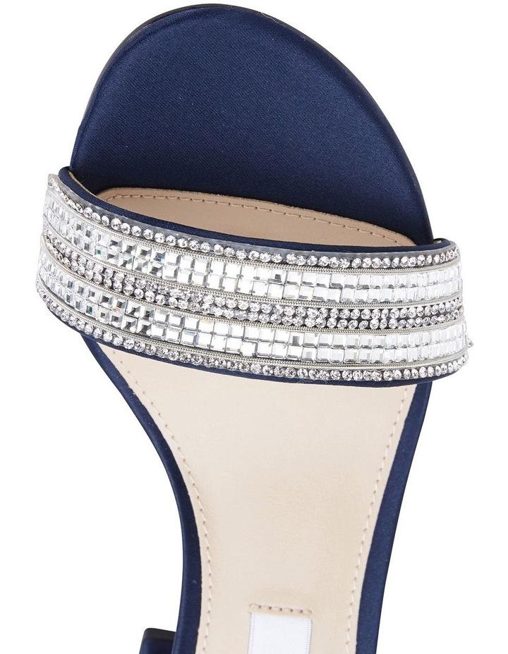 Elenora New Navy  Luster Satin Sandal image 7