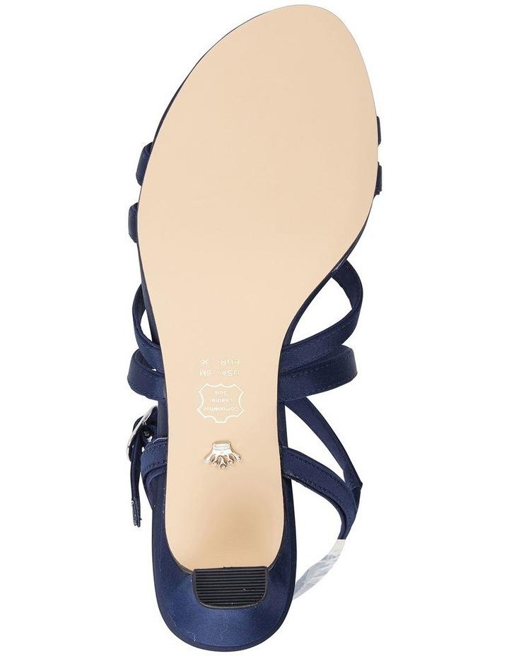Genaya New Navy Satin Sandal image 6