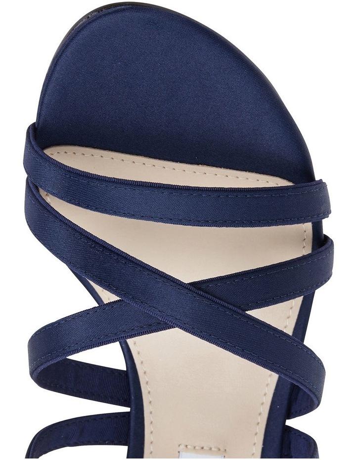 Genaya New Navy Satin Sandal image 7