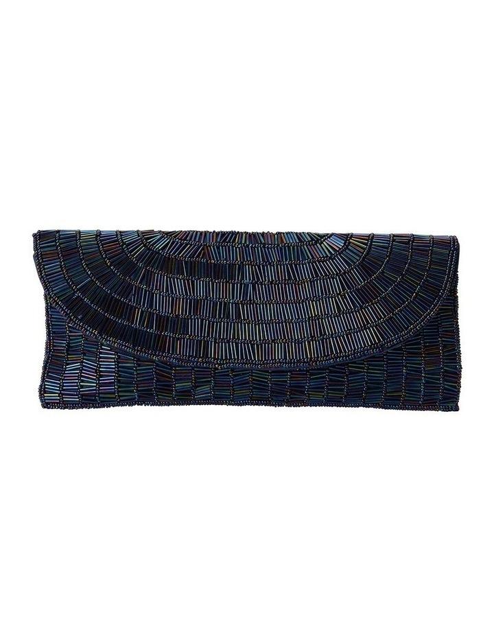 Denelle Navy Beaded Clutch image 1
