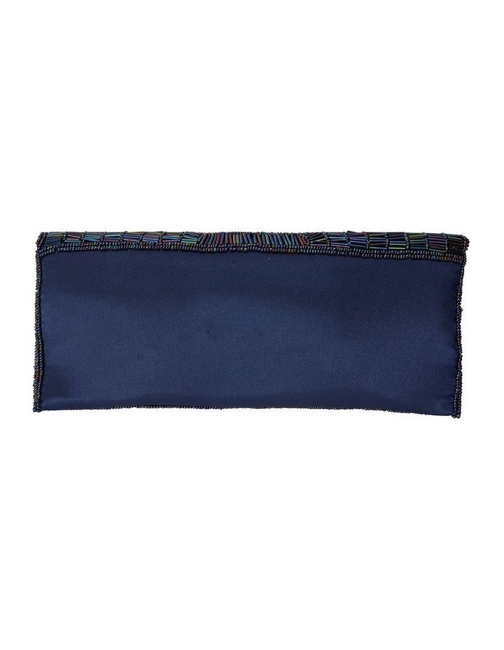 Denelle Navy Beaded Clutch image 2