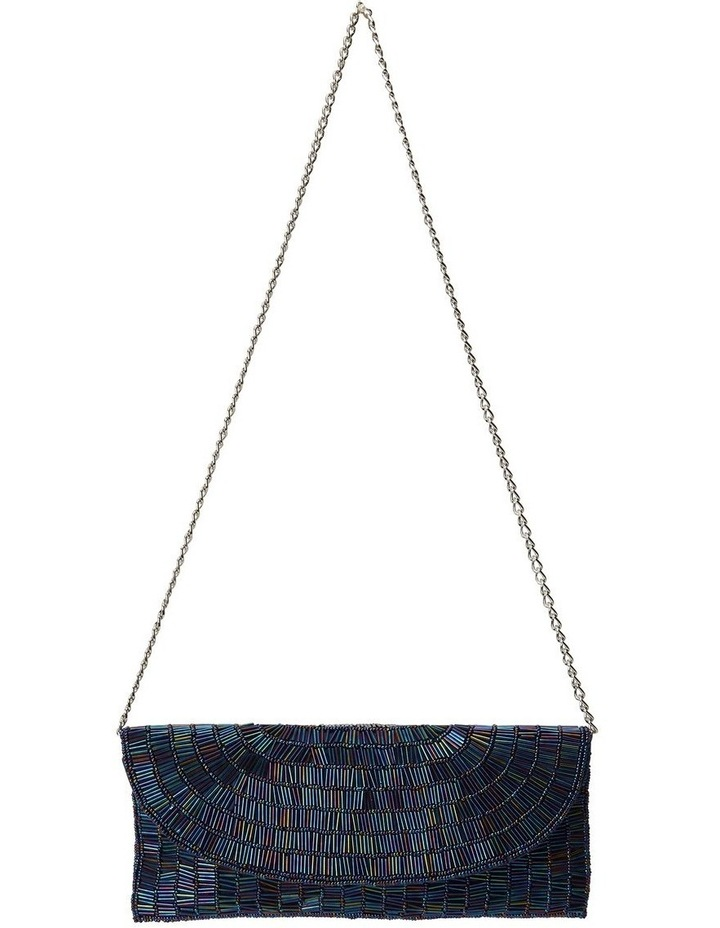 Denelle Navy Beaded Clutch image 3