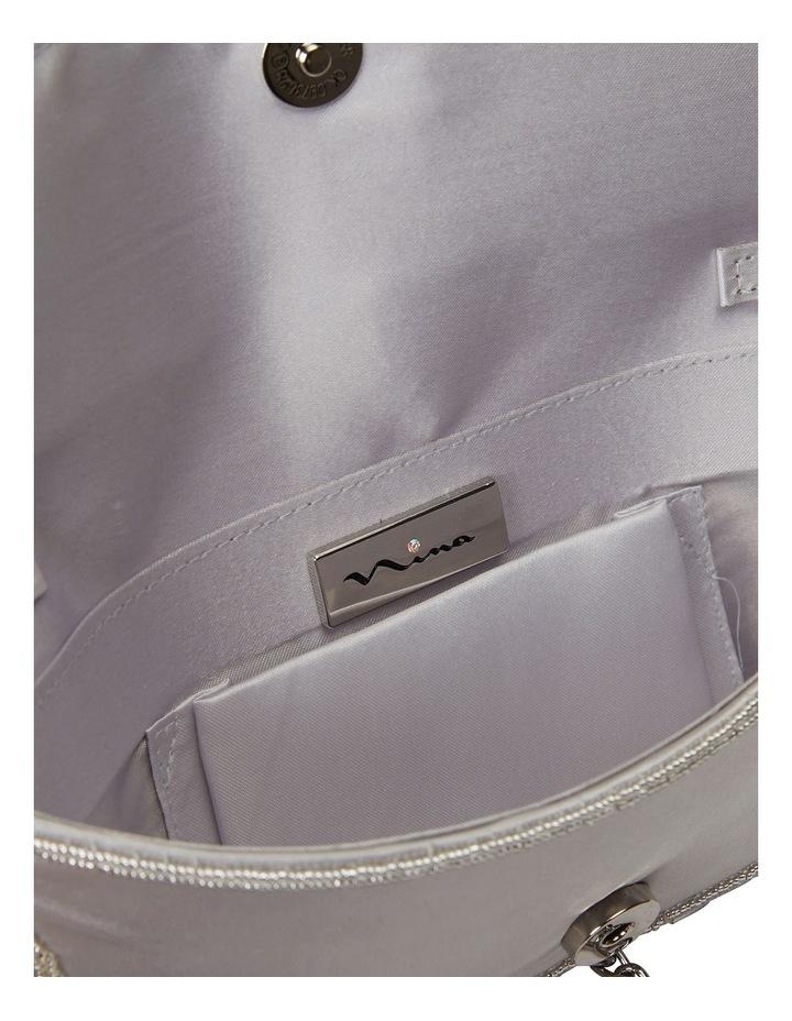 Denelle Silver Beaded Clutch image 4