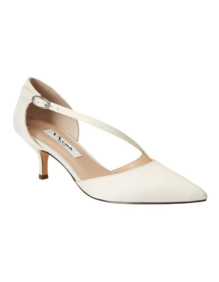 Tirisa Ivory Satin Heeled Shoe image 2