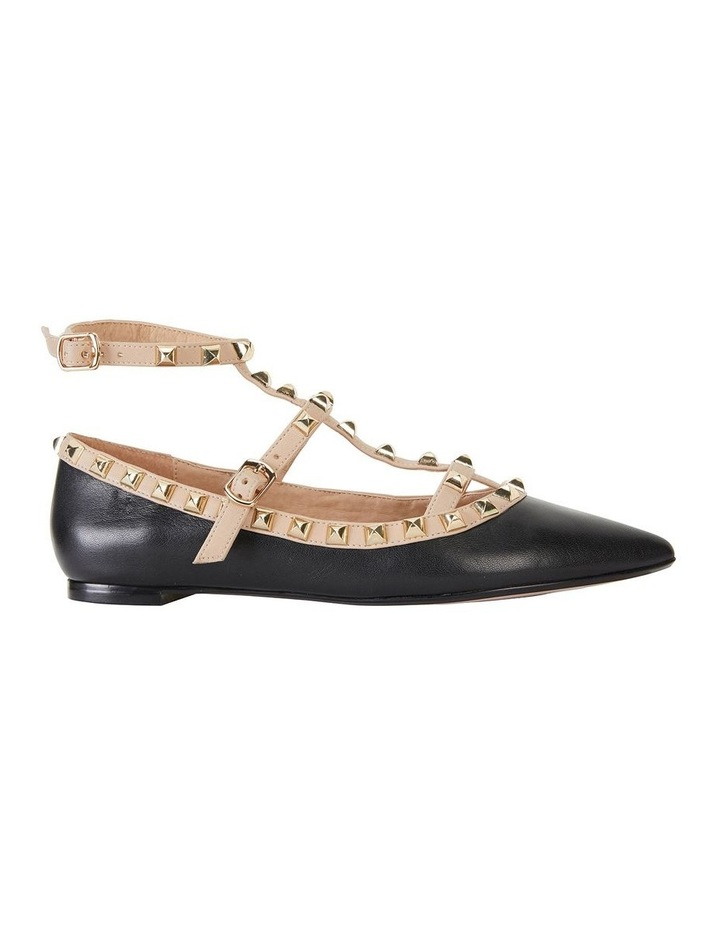 Inez Black Kid/Nude Flat Shoes image 1