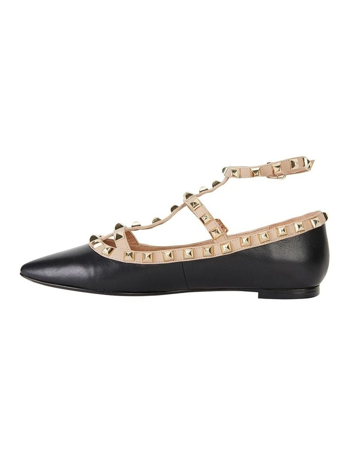 Inez Black Kid/Nude Flat Shoes image 3