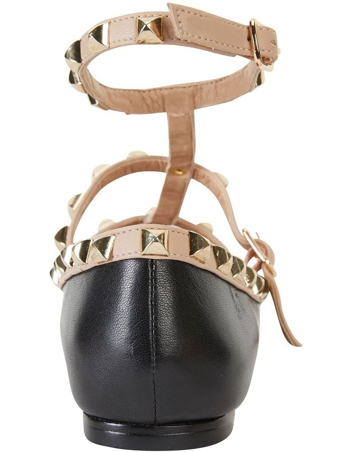 Inez Black Kid/Nude Flat Shoes image 5