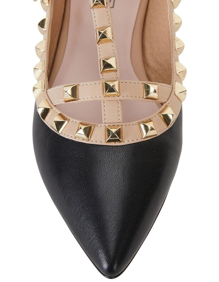 Inez Black Kid/Nude Flat Shoes image 6