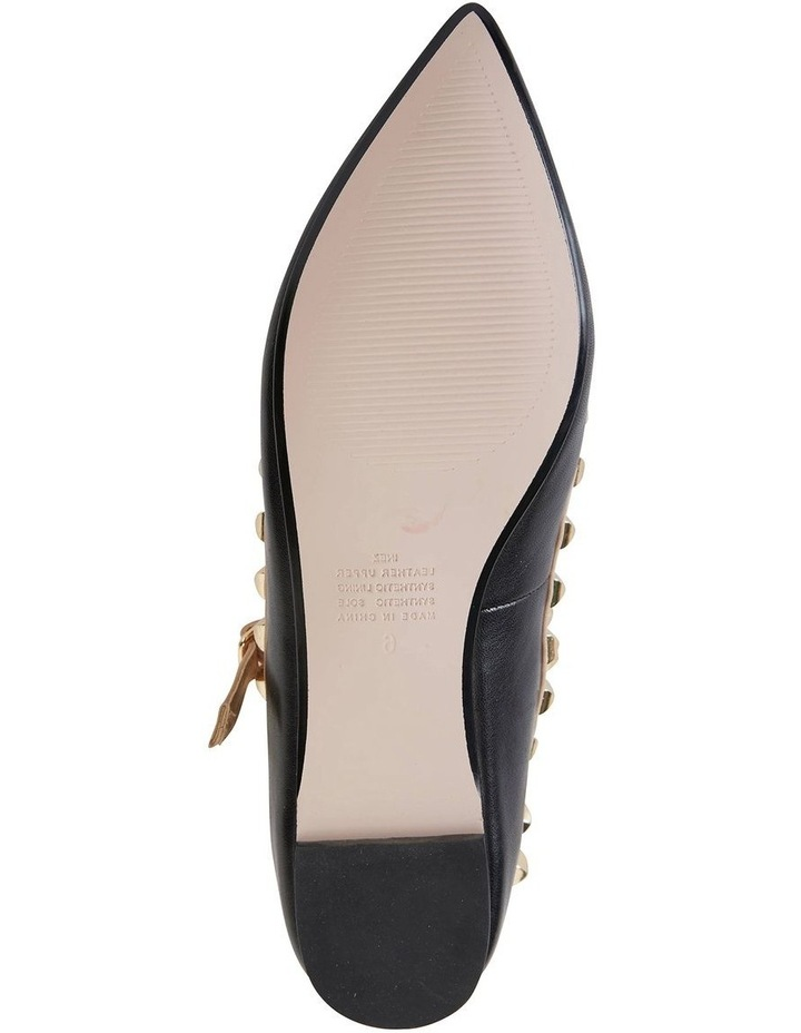Inez Black Kid/Nude Flat Shoes image 7