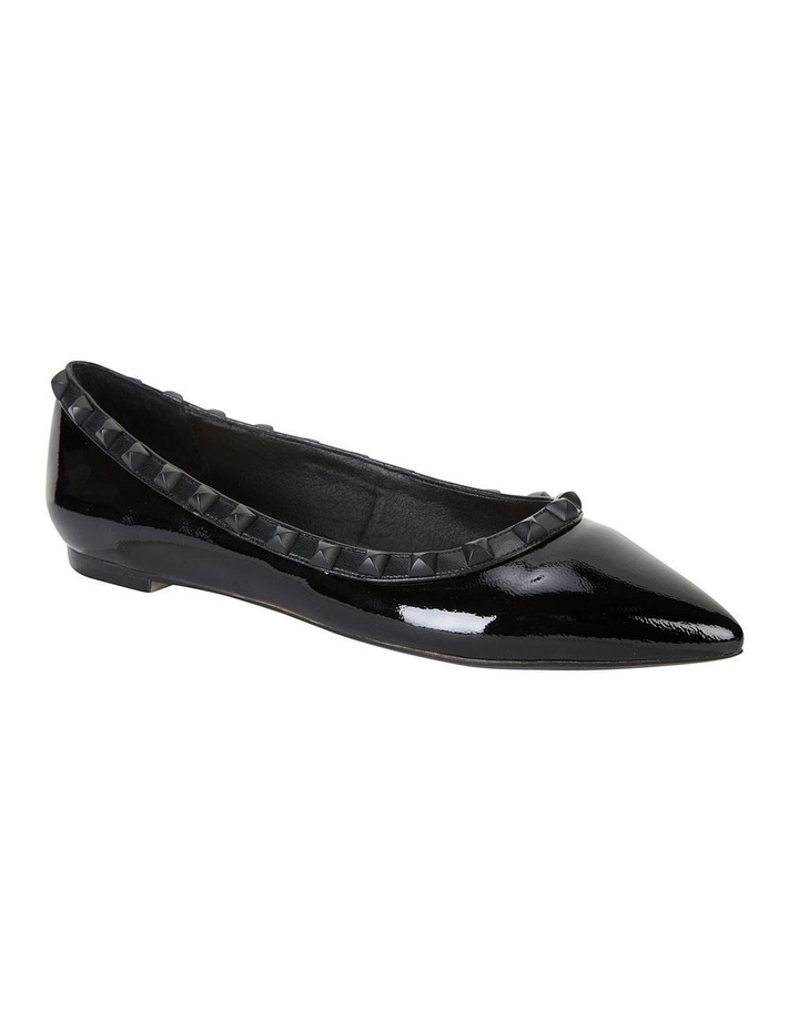 Iggy Black Patent Flat Shoes image 2