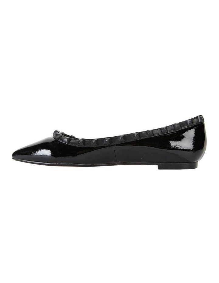 Iggy Black Patent Flat Shoes image 3