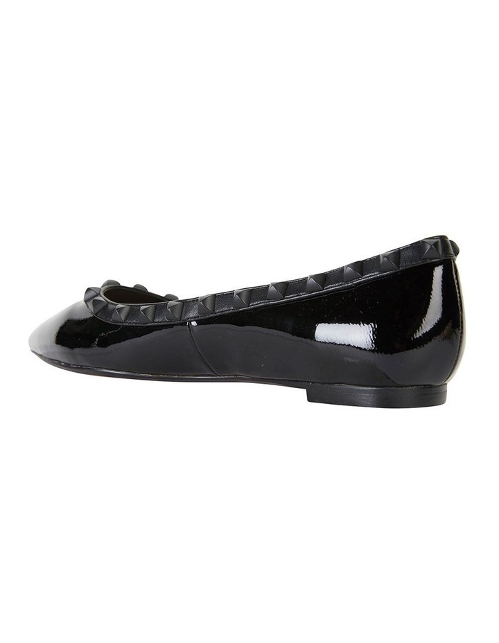 Iggy Black Patent Flat Shoes image 4