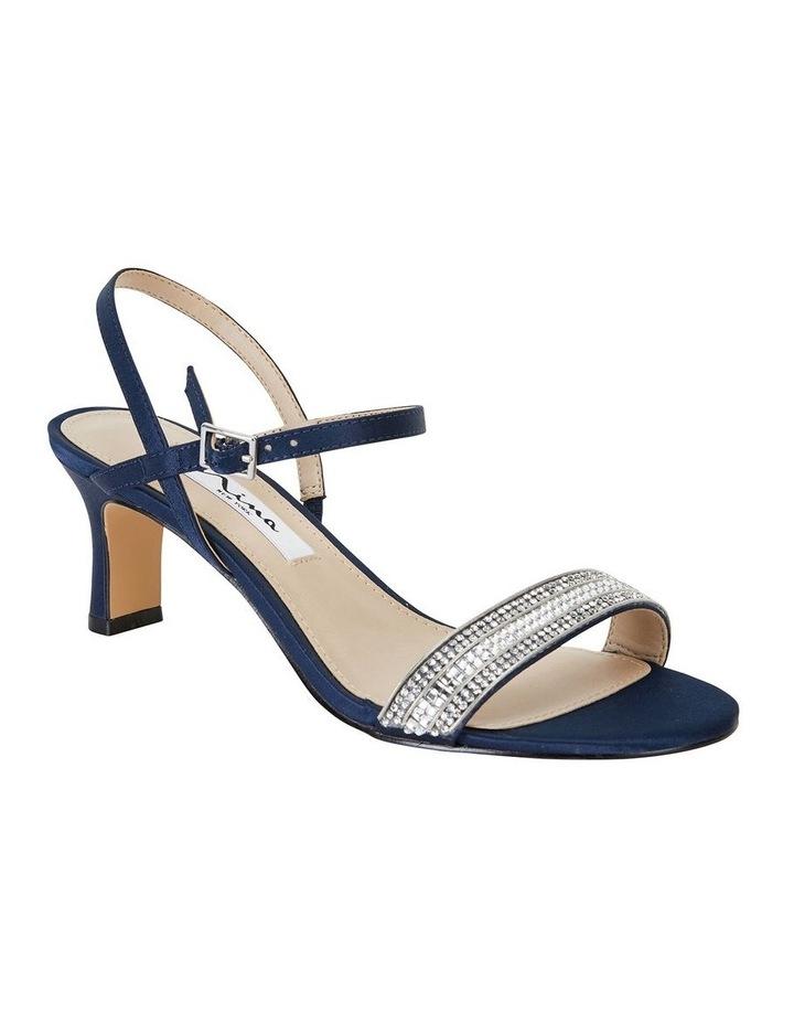 Noela Navy Luster Satin Sandal image 2