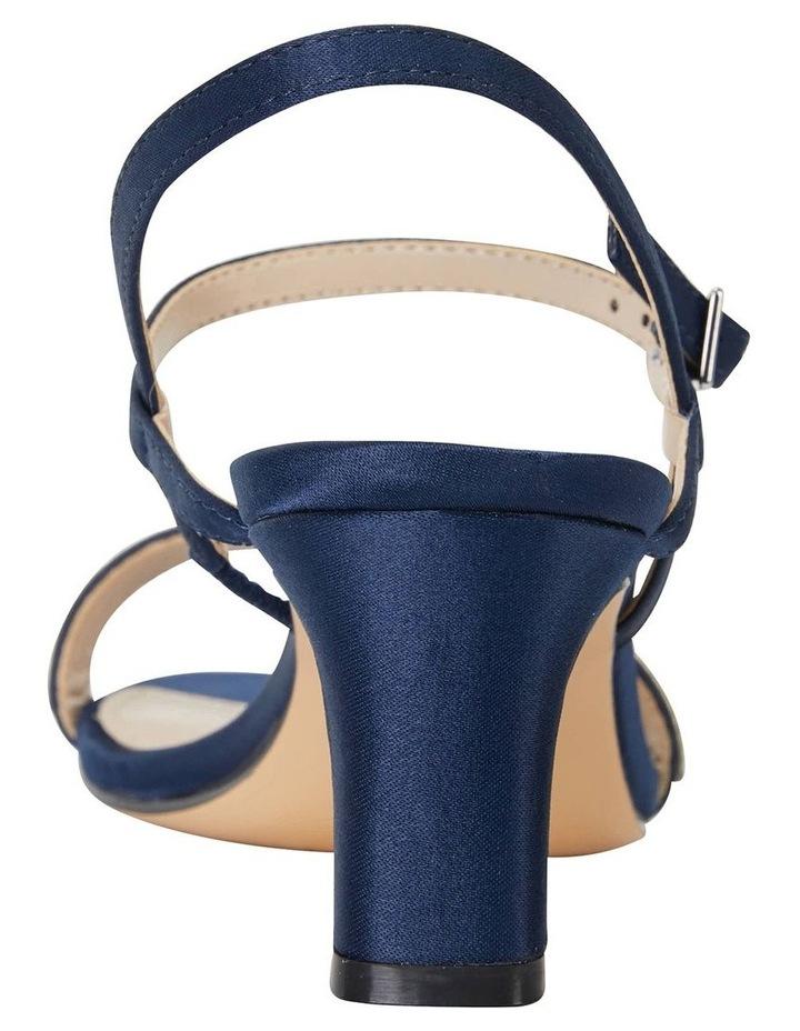 Noela Navy Luster Satin Sandal image 6