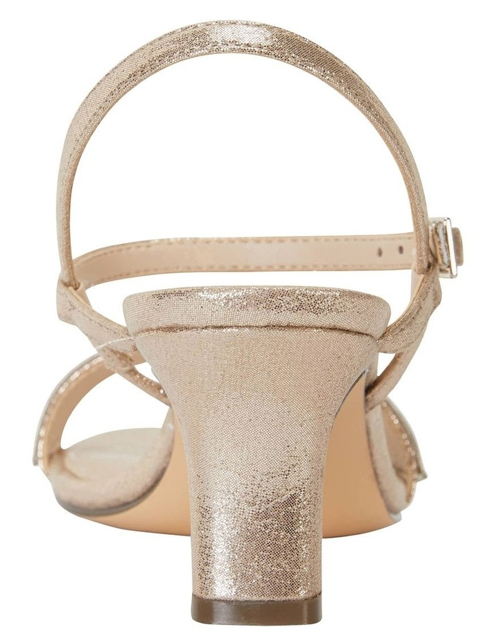 Noela Taupe Reflective Suede Sandal image 6