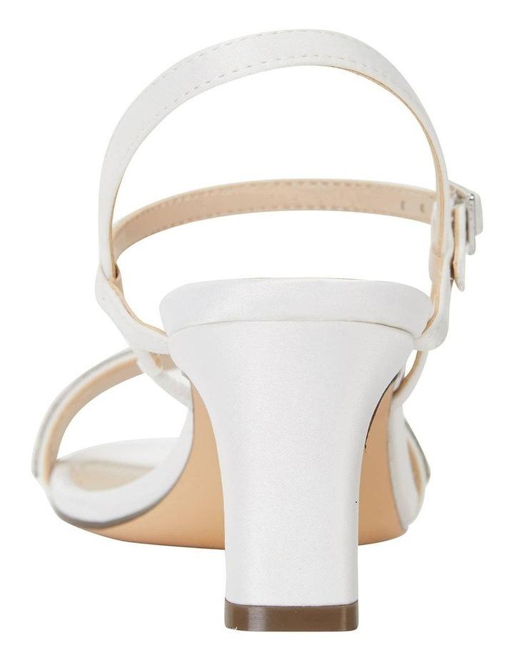 Noela Ivory Lustre Satin Sandal image 6