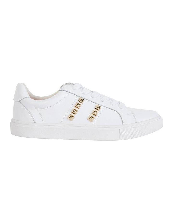 Savage White Kid/Gold Sneaker image 1