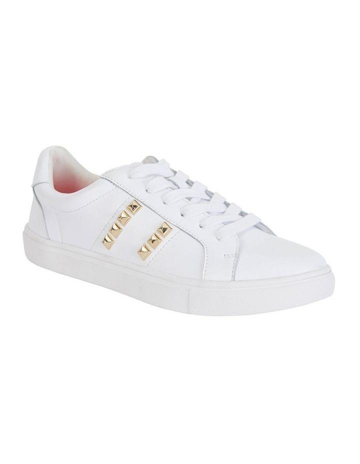 Savage White Kid/Gold Sneaker image 2
