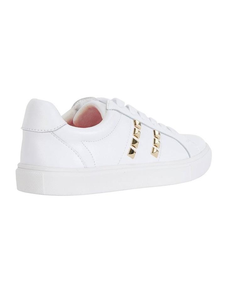 Savage White Kid/Gold Sneaker image 4