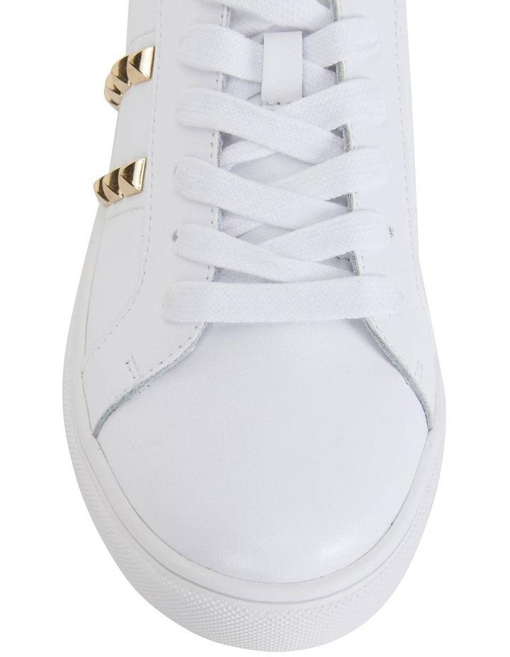 Savage White Kid/Gold Sneaker image 6